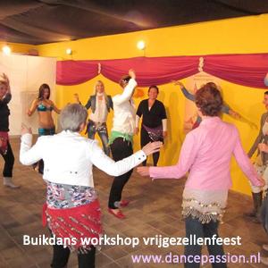Buikdans workshop vrijgezellenfeest