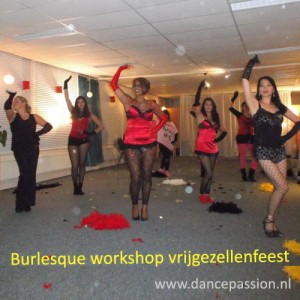 Burlesque workshop vrijgzellenfeest